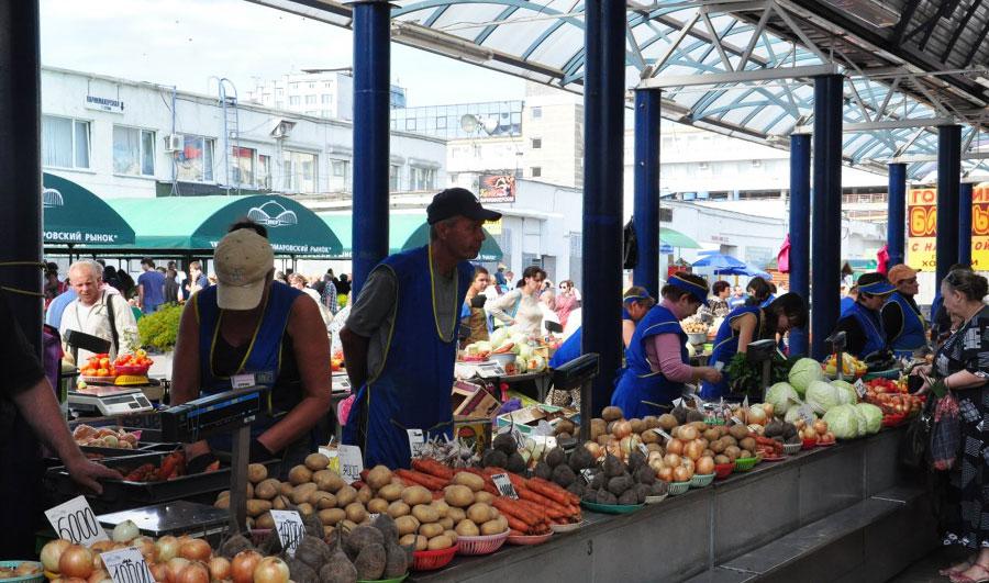 Продукты на Коптевском рынке