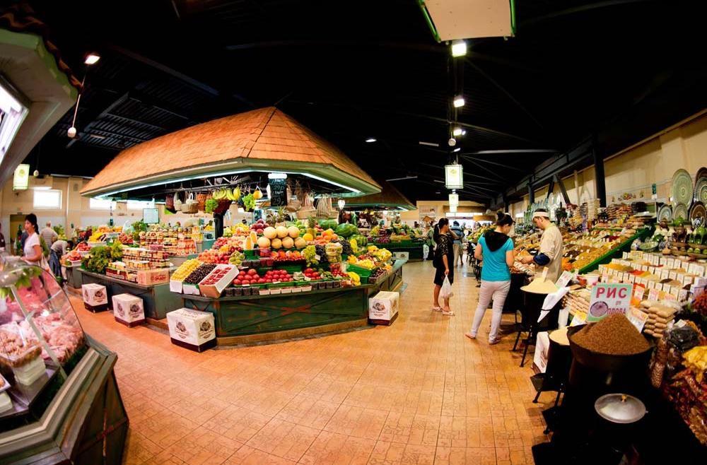 Линии с прилавками на Рогожском рынке