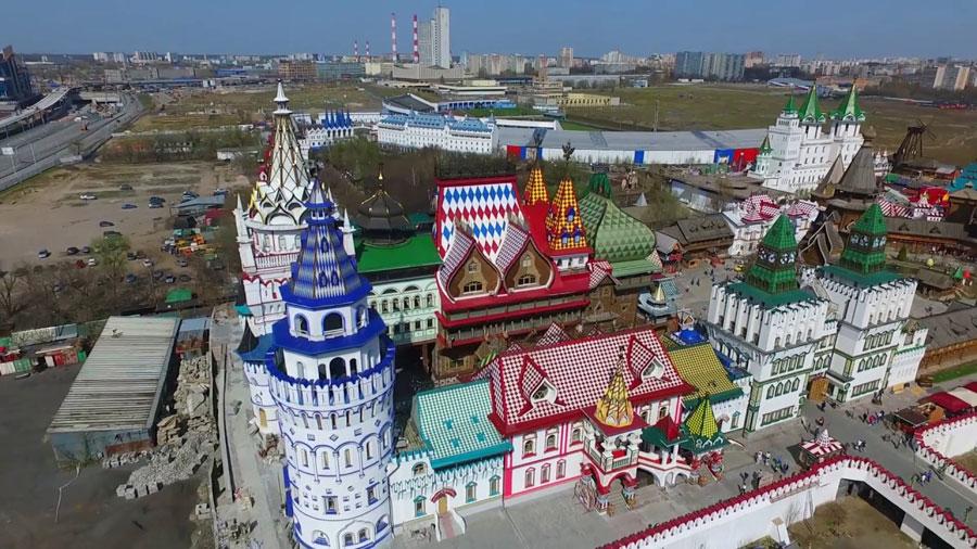 Кремль в Измайлово с высоты птичьего полета